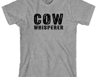 Cow Whisperer Shirt - gift idea, farm, farming, milking, cow farm - ID: 1880