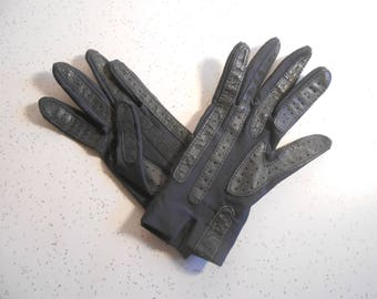 Vintage Aris Isotoner Driving Gloves Dark Navy Blue Color Driving Gloves Women's Unlined Driving Gloves One Size