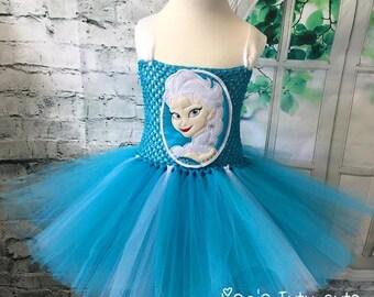 Elsa tutu, Elsa tutu dress, Elsa costume, Elsa birthday outfit, Elsa dress, Elsa Halloween costume, Elsa birthday dress, Frozen birthday
