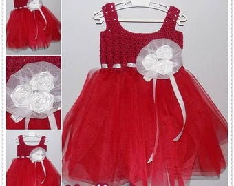Crochet tulle baby dress pattern,  0-36 months sizes, tulle tutu dress pattern, Instant Download PATTERN