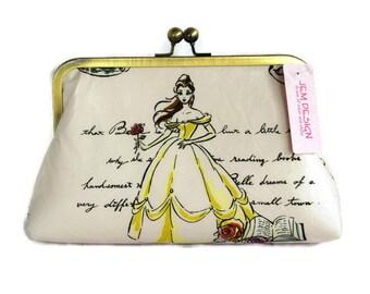 Princess fashion wedding clutch purse/ Bridal accessory clutch/ Birthday purse gift idea/ Fairytale wedding purse/Belle purse /Fashion bag