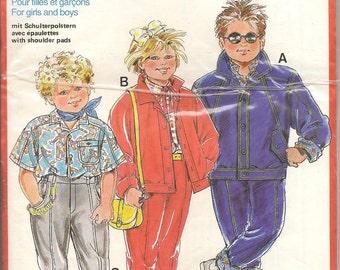 Burda Sewing Pattern 6069 Children's Shirt Jacket Pants Body Height 34–50 inches