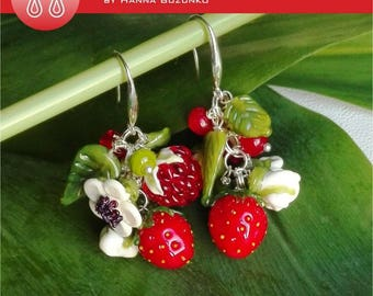 Berry mixmurano glass earrings Order now!