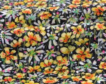 10% LIBERTY Baby Cord 63x145cm-Eleonora-yellow velvet fabric