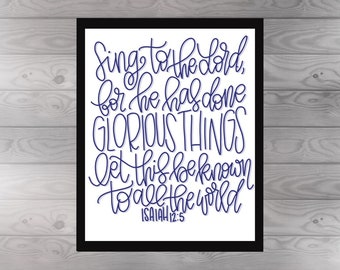 Isaiah 12:5 Print