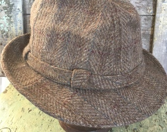 Vintage Stetson Wool Tweed Fedora