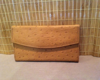 "Vintage 80's ""AMBER COLOR WALLET""  by GVanti International Leather Look"