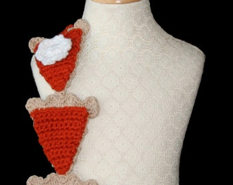 Crochet Scarf Pattern, Thanksgiving, Pumpkin Pie