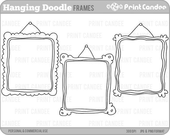 70% OFF SALE! - Hanging Doodle Frames - Personal and Commercial Use ...