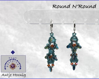 Round N'Round, Instructions, Earrings, Pattern, PDF - Download, ENGLISH