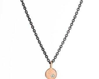 14K gold elemental pebble necklace