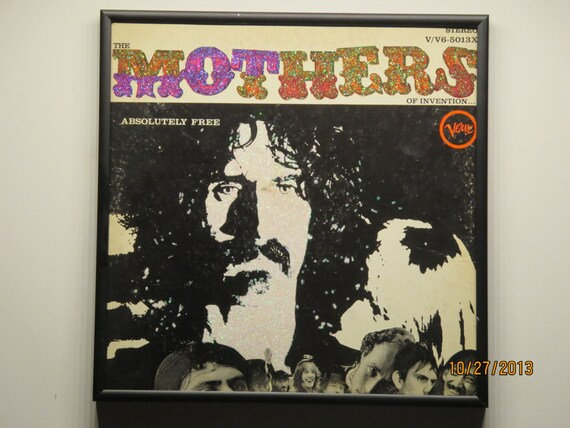 Glittered Record Album - Frank Zappa - The Mothers of Invention - Absolutely Free