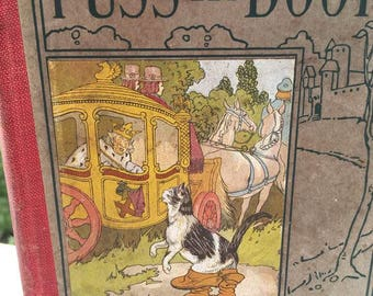 1922 Puss in Boots Hard Cover Book