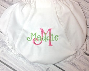 Monogrammed Bloomers, Monogrammed Diaper Covers, monogram bloomers, monogram diaper covers, monogrammed diaper cover, monogram panties