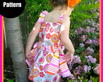 Girls Dress Pattern PDF Sewing Pattern...The Paige Top and Skirt 12m-5T