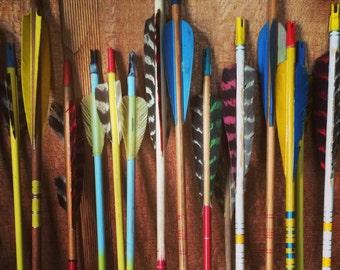 Vintage Wood Arrows Wood Archery Arrows Set of 1, Set if 3 or Set of 5 Vintage Archery Vintage Wood Home Decor Fixer Upper Northwoods Joanna