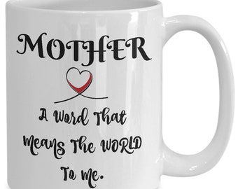 Mother - a word that means the world to me