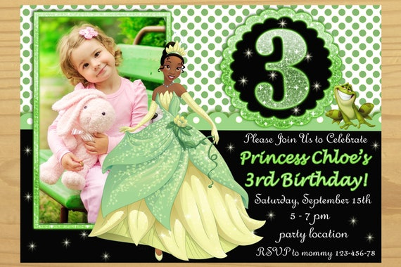 The Princess and the Frog Photo Invitations