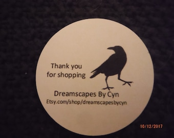 Custom Printed Shop Tags Round -- SteviesScratchpad