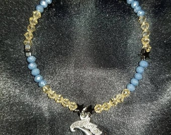 Blue and Yellow Moon Bracelet