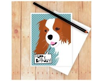 Dog Stationary, Dog Greeting, Cavalier King Charles Spaniel,  Dog Lover Gift, Dog Mom Gift, Thank You Card, Dog Lover Card, Birthday Card