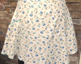 Poised in Turquoise Vintage Apron