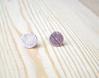 Simple Stud earrings, rustic post earrings, copper stud earrings, studs earrings, organic stud earrings, tiny rustic earrings, small