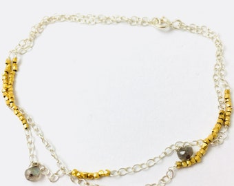 Gold and Silver charm bracelet