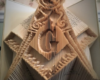 Masonic Square and Compass Book Folding - PATTERN ONLY