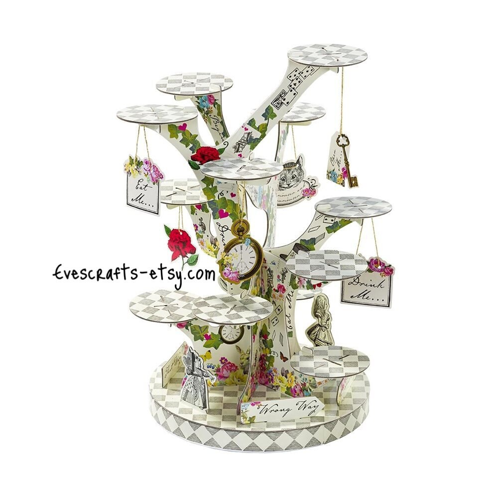 Alice in wonderland cupcake stand Alice cake stand mad