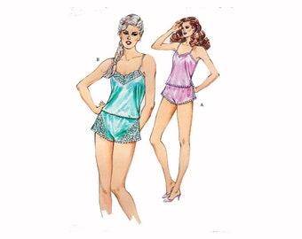 "Women's Camisole & Panties Sewing Pattern UNCUT Vintage 80s Lingerie Pattern Size XS-L Bust 31.5-41.5"" (80-106 cm) Kwik Sew 1409 S"