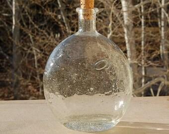 Hand Blown Bubble Glass Bottle