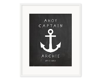 Ahoy Captain - Customized Print