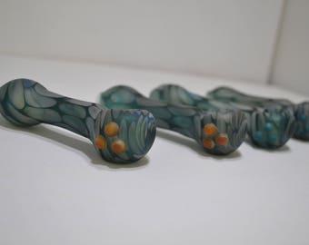 Glass Spoon Pipe, Spoon Pipe, Matte Finish Spoon Pipe, Sandblasted Pipe, Borosilicate
