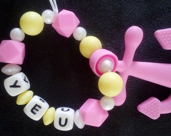 Teether personalized baby anchor
