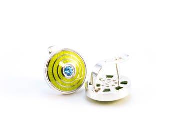 Silver earrings cloisonne enamel jewelry topaz silver guilloche enamel earrings topazes jewelry gems earrings vitreous enamel silver jewelry