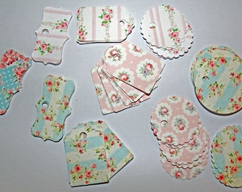 """Set of 50 labels """"Spring"""" for scrapbooking, gifts or for your creations"""