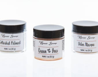 Gift set of three mask-Complete skin care with one gift- Set of three 1 oz each-Treat yo self -  BeautéSauvage56