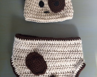 Puppy Diaper Cover & Hat Set