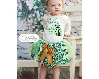 Shamrock Saint Patricks day shirt, st patricks day tutu, pattys days shirt, shamrock shirt, shamrock tutu, patricks day outfit, green tutu