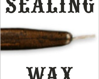 Chocolate Pearl traditional wax sticks with wicks - Scottish style breakable sealing wax - 10 pieces - 1/2 PRICE SALE