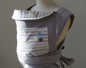 mei tai BABY CARRIER / baby carrier /sling for mothers and fathers light grey