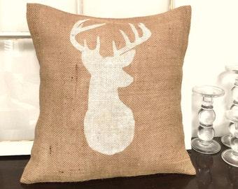Deer Head Pillow