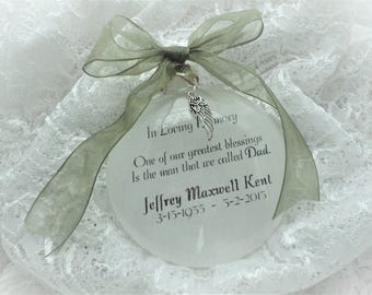 Memorial Ornament - In Loving Memory - One Of Our Greatest Blessings - Free Personalization and Charm