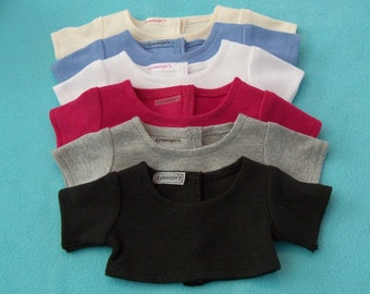 18 inch Doll  Crop Top Tee Shirt Available in Multi-Colors