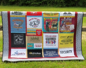 T Shirt Quilts, Custom Made Quilts, Memory Quilts, keepsake Quilts