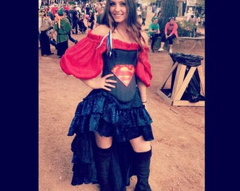 Superman Inspired Steampunk Outfit, Man of Steel, Justice, Super Hero, Renaissance, Costume, Cosplay