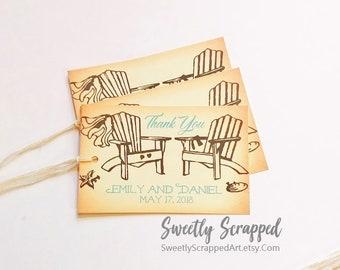Beach Wedding/ Wedding Tags/ Ocean Wedding/ Destination Wedding/ Personalized Tags/ Custom Tags/ Wedding Favor/ DIY Labels/ Wedding Gift