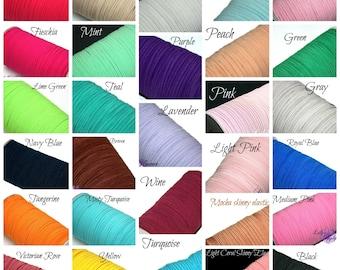 Multi Pack 1/8 inch Elastic - You choose colors  and quantity - Skinny Elastic - Elastic by the yard - Thin Elastic - DIY - Headbands