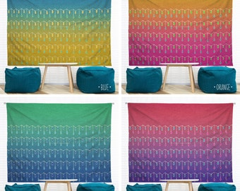 Droplets Hanging Wall Tapestry. Home, Dorm Decor, Headboard Tapestry, Ombre, Nursery, Decorative Pattern, Hand-Drawn, Wall Art, Watercolors